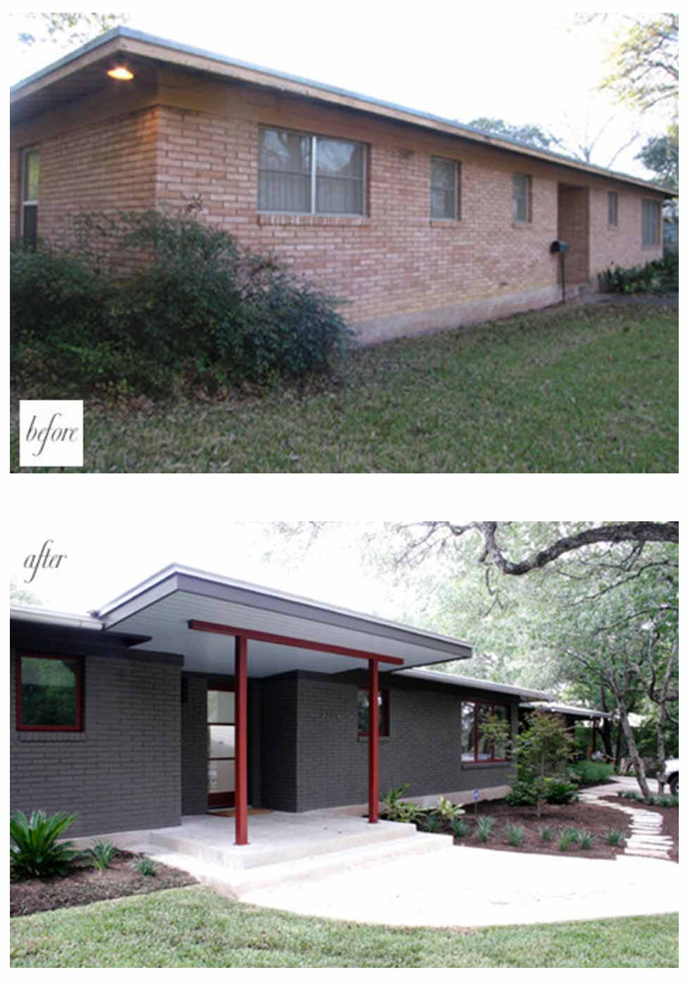 Simple renovation ideas to transform a charmless brick home for 70s house exterior makeover australia